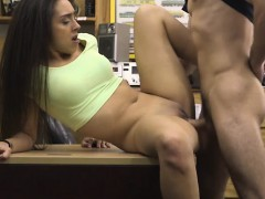 Perky Tits Amateur Brunette Babe Nailed At The Pawnshop