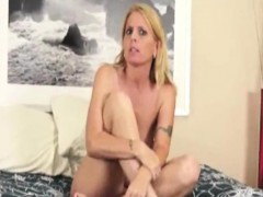 Tattooed Milf Jerks Cock After Getting Caught
