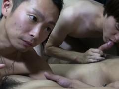 Asian Twinks Sucking Dick