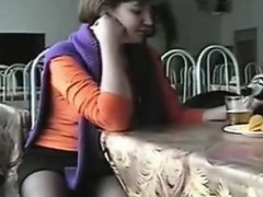 Upskirt In A Dining Area