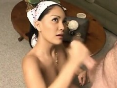 Kaede chick licks dong and has mouth and cunt filled with sp 9