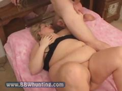 Nasty Blonde Chubby With Huge..