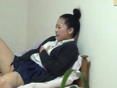 Asian Teen Rubs Vagina