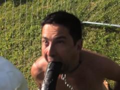 Uniform Mistress Punishing With Strapon Cock