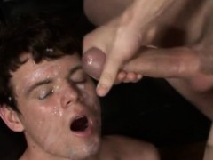 Homo Big Cock Cumshot Gay Bukkake With Nervous Nathan