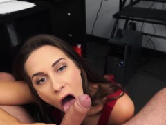 Sexy Babe Cassidy Klien Sucks His Daddys Cock