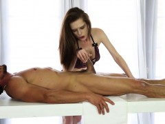 Masseuse Swallows Cum