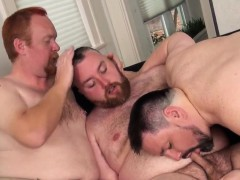 Mature Redbear Assfucked In Threesome