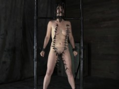 Tied Up Slave Acquires Lusty Pleasuring Her Bawdy Cleft