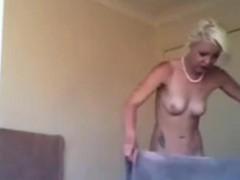My Naked Blonde Step Sister On Hidden Camera
