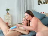 Arteya and Yasmin Scott in Chat with me lesbian scene by