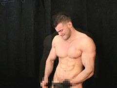 Muscle Hunk Sucking Up Cum Of My Leather Gloves