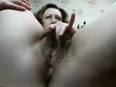 rubs-hairy-pussy