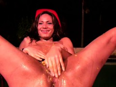 Ass Fingering Shedoll Gets Messy With Mango And Big Cumshot
