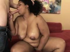Aroused Brazil ebony BBW Delilah Black gives some good blow
