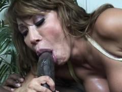 Legendary pornstar Ava Devine takes a BBC up her ass