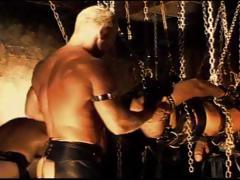 4 Way Cbt Session Where The Bottom Is Suspended From Chains