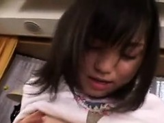 Sultry Japanese Teen Shows Off Her Amazing Footjob and blow