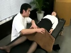 Pantyhosed Asian Cutie With Sexy Long Legs Gets Massaged An