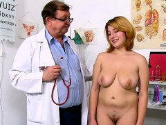 natural-tits-doctor-gaping-with-cumshot