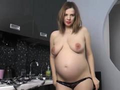 pregnant-lina-strips-nude-and-masturbates