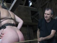 stockinged-bdsm-sub-gagged-and-caned