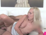 Blonde amateur got doggy style in casting
