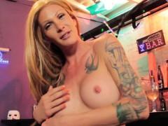 Inked Trans Beauty Bangs Bartender For Drinks