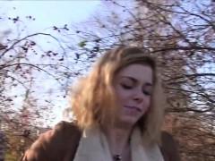 blonde-czech-amateur-bangs-outdoor