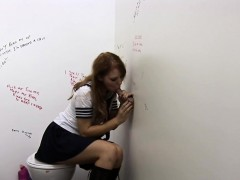 Fully Clothed Schoolgirl Sucking Hard Dick