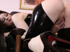 Jizz Mouthed Latex Teen