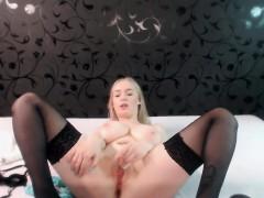 sexy-blonde-babe-with-big-boobs-strips-bra