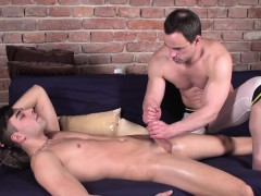 Massaged Twink Anally Fingered By His Masseur