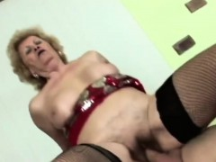 Horny Man Licks Lusty Granny's Hairy Pussy Befo