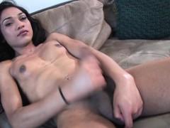 Auditioning Latin Trans Cocksucking On Camera