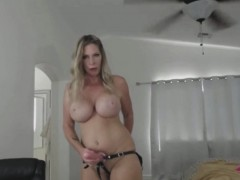 Super Busty Milf Wearing Strap On Will Give You Cool Joi