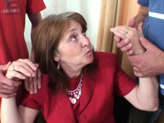 Office Meeting Ends Mature Threesome Sex