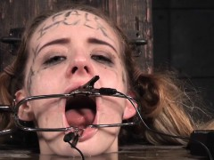 Submissive Teen Mouthgaped In A Barrel