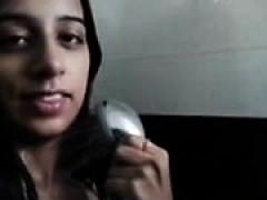 Large Tits Girl Bath Selfie