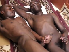 A Hot Gay African Bareback Kitchen Sex