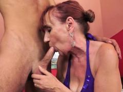 Redhead Grandma Received Cum In Mouth