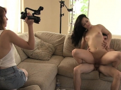 chick gets off at the slut casting getting impaled on pecker