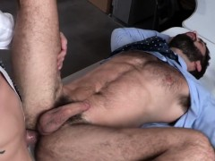 Bearded Stud Wants That Fat Penis All Inside His Mouth