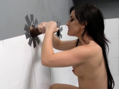 Plowed gloryhole slut