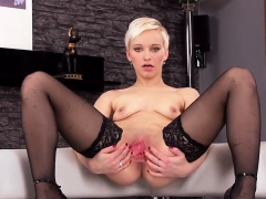 Slutty Czech Chick Opens Up Her Narrowed Cunt To The Strange