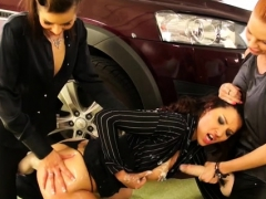 Doxy Gets Down On Knees Sucking Fake Weenie At The Gloryhole