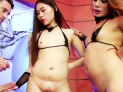 Charming Shemale Yuki In Hot Threesome