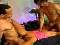 Rough 3some For Swinger Slut