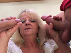 threesome-with-boozed-blonde-granny