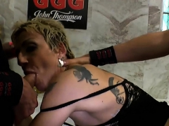 Mature German Mother loves younger cock and Piss